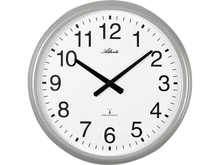 Atlanta Uhren 4449 Wandklok Zendergestuurd 425 mm Zilver (mat)
