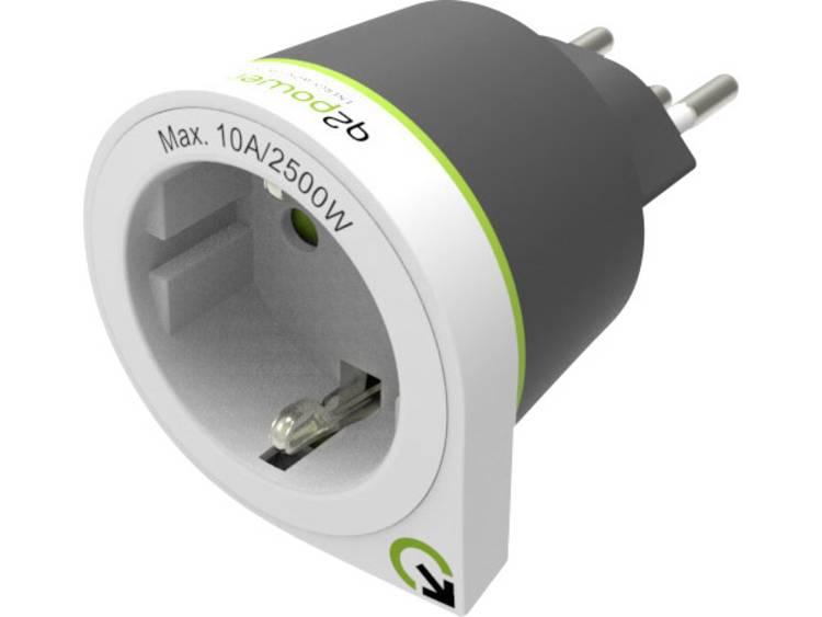Q2 Power 1.200130 Reisstekker Reiseadapter Schuko (Europa) nach Schweiz