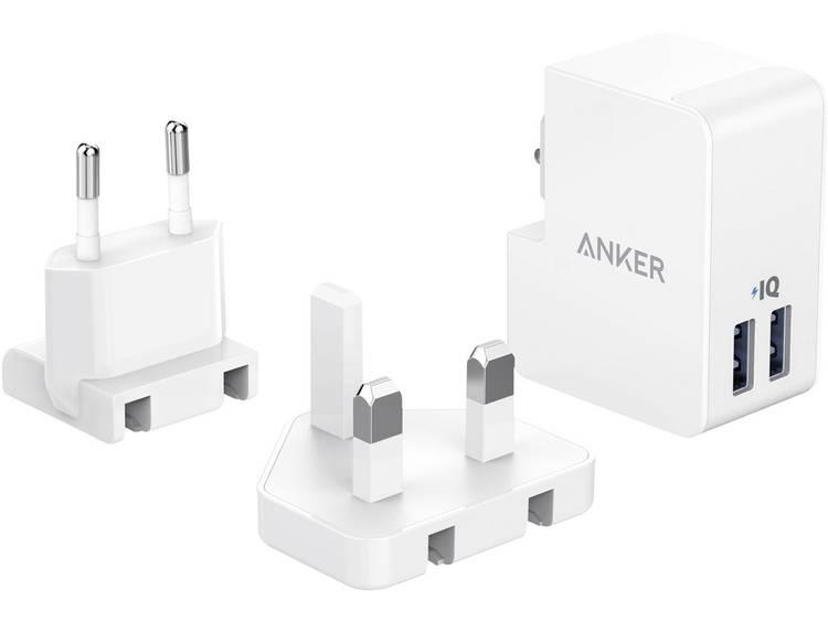 USB-oplader Anker A2022321 (Thuislader) Uitgangsstroom (max.) 3400 mA 2 x USB Met UK-stekker