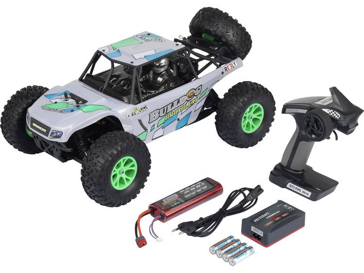 Reely Bulldog Brushless 1:10 Brushless RC auto Elektro Buggy 4WD 100% RTR 2,4 GHz Incl. accu, oplade