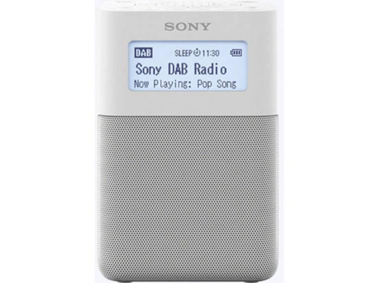 Sony XDR-V20D DAB+ Wekkerradio DAB+, FM, AUX Wit