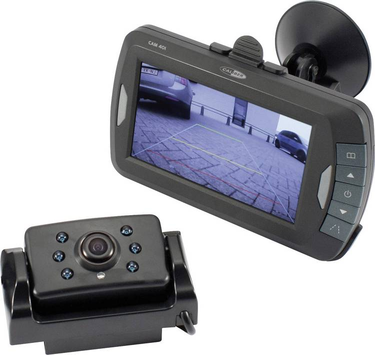 Image of Draadloos achteruitrijcamera systeem Caliber Audio Technology 2 camera-ingangen, Automatische witbalans, Diafragma F 2.0, Vrij verstelbare kogelcamera, Extra