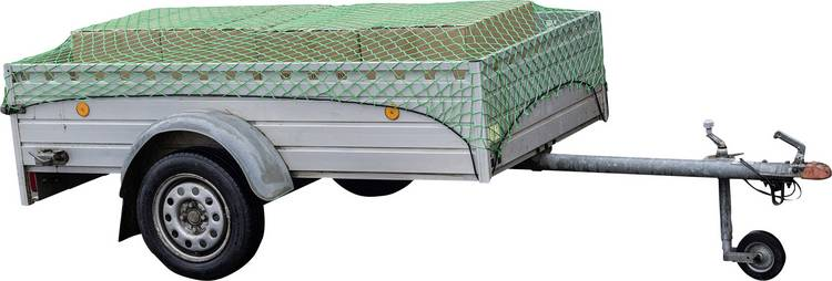 Aanhangernet (l x b) 3 m x 2 m HP Autozubehor 25162 Met rubberen spanband
