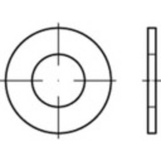 TOOLCRAFT 159231 Onderlegringen Binnendiameter: 21 mm Staal 100 stuks