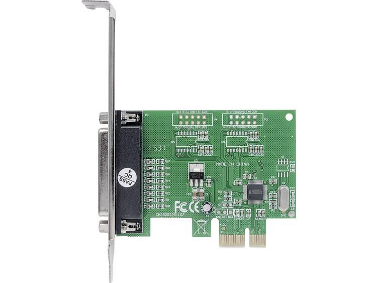1 poort Parallelle interfacekaart Parallel (IEEE 1284) PCIe Manhattan Parallele PCI-Express-Karte 1 DB25-Port geeignet für PCIe x1 x2 x4 x8 und x16