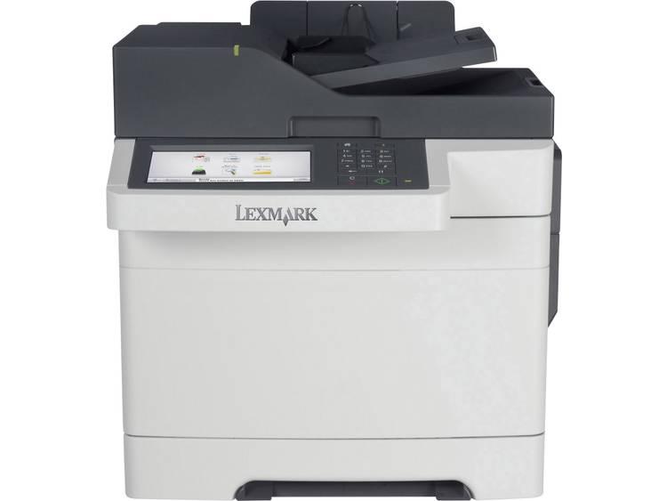 Lexmark CX517de Multifunctionele kleurenlaserprinter A4 Printen, Scannen, Kopiëren, Faxen ADF, Duplex, LAN