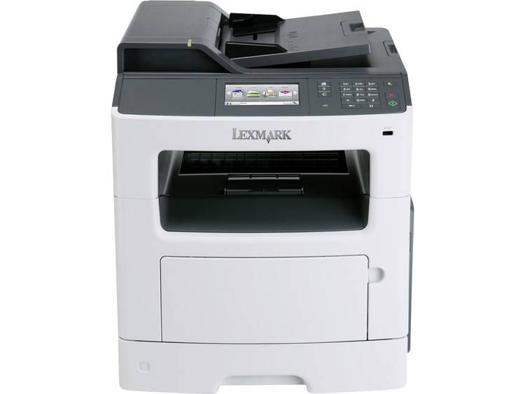 Lexmark MX417de Multifunctionele laserprinter A4 Printen, Faxen, Kopiëren, Scannen ADF, LAN, USB
