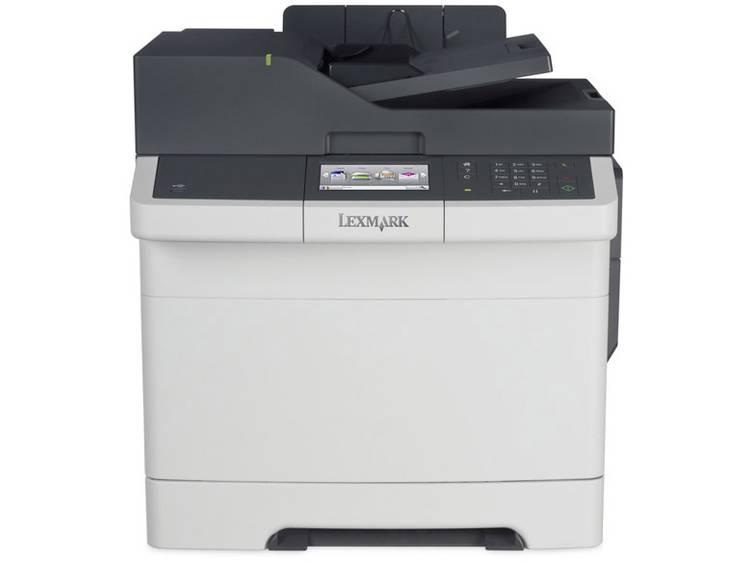 Lexmark CX417de Multifunctionele kleurenlaserprinter A4 Printen, Scannen, Kopiëren, Faxen LAN, Duplex, ADF