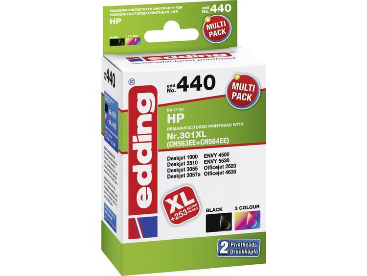 Edding Inkt combipack vervangt HP 301, 301XL Compatibel Combipack Zwart, Cyaan, Magenta, Geel EDD-440 EDD-440