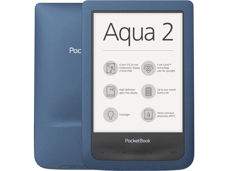 PocketBook Pocketbook Aqua 2 eBook-reader 6 inch (15.2 cm) Azuur