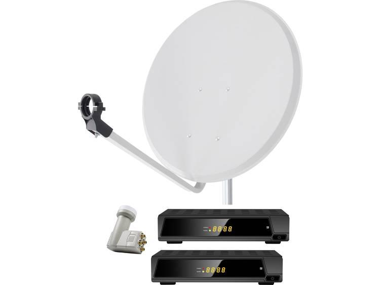 Satellietset met receiver Smart DA2-80QSE 80 cm
