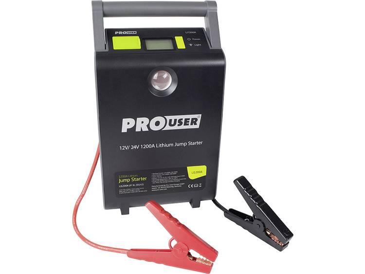 ProUser Lithium Jump Starter 12 24V 30.000mAh LI 1200A 16479 Snelstartsysteem Starthulpstroom 600 A