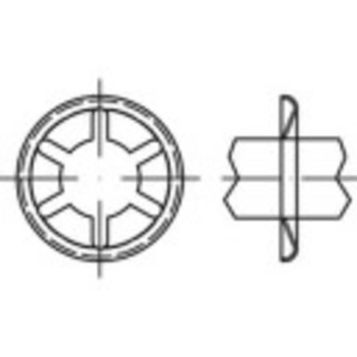 TOOLCRAFT 159384 As-klemringen Buitendiameter: 15 mm 88122 Verenstaal gepolijst 500 stuks