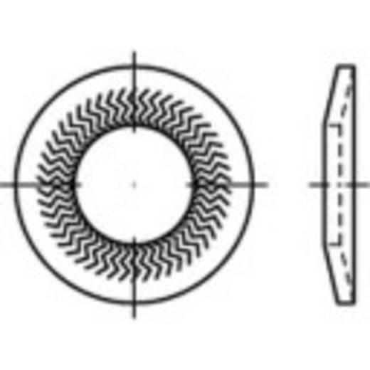 159399 Grendelschijven Binnendiameter: 6 mm Verenstaal verzinkt 250 stuks