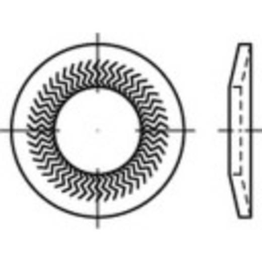 159407 Grendelschijven Binnendiameter: 6 mm Verenstaal verzinkt 250 stuks