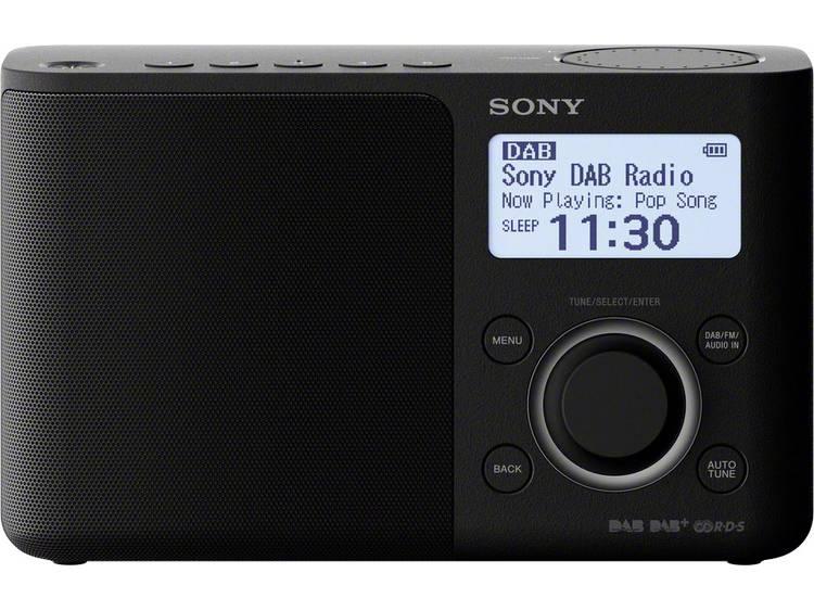 Sony XDR-S61D DAB+ Transistorradio AUX, DAB+, FM Zwart