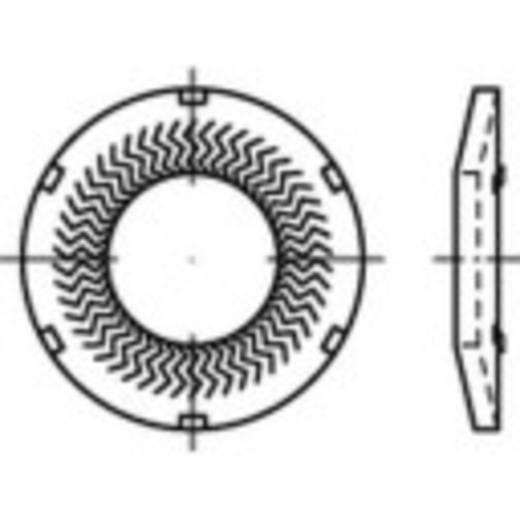 159420 Grendelschijven Binnendiameter: 4 mm Verenstaal verzinkt 250 stuks