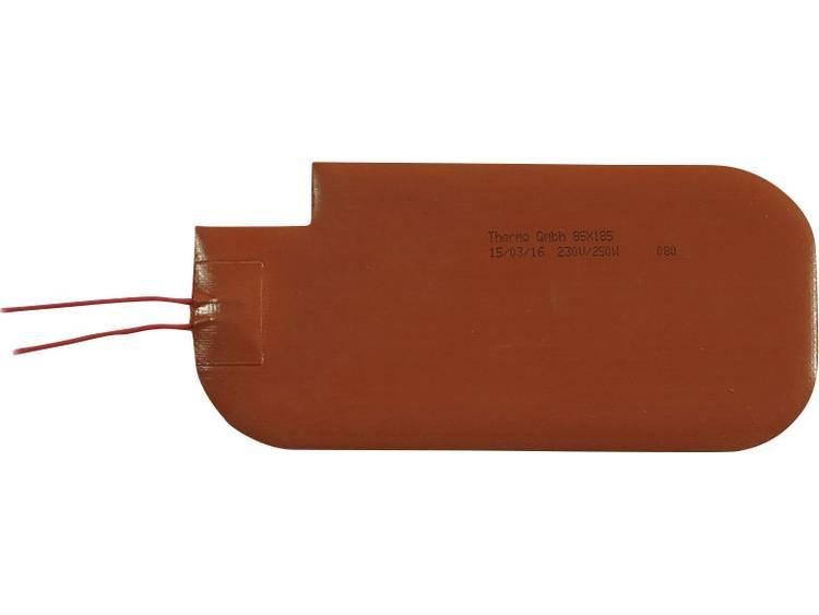 Thermo Silicone Verwarmingsfolie Zelfklevend 230 V/DC, 230 V/AC 250 W Veiligheidstype IPX7 (l x b) 185 mm x 85 mm