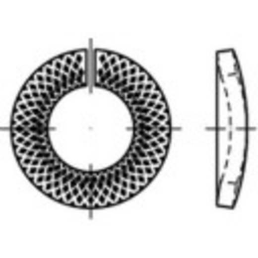 TOOLCRAFT 159454 Grendelring Binnendiameter: 20 mm Verenstaal verzinkt, geel gechromateerd 100 stuks