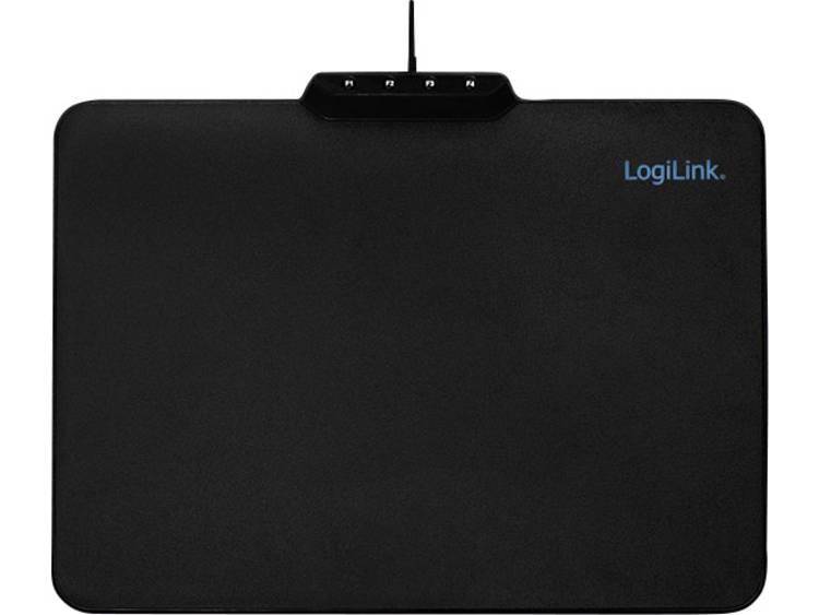Gaming muismat LogiLink ID0155 Verlicht Zwart