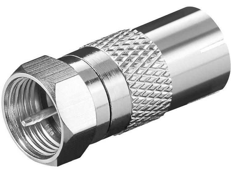 Adaptor: F-plug>coaxial jack (IEC 9,5 mm) quality copper finish, big n