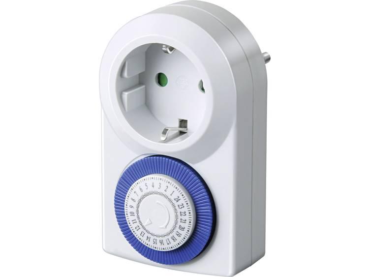 Stopcontact-schakelklok Analoog Dagprogramma Brennenstuhl 1506160 3500 W IP20