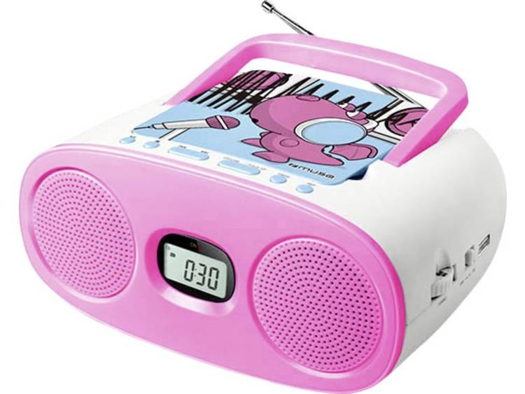Muse M-23 KDG Kinder CD-speler AUX, CD, FM, USB Roze