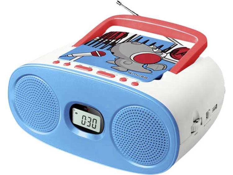 Muse M-23 KDB Kinder CD-speler AUX, CD, FM, USB Blauw