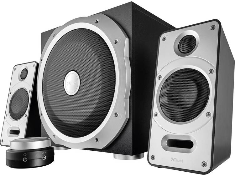 Trust Byron 2.1 PC-luidsprekers Kabelgebonden 60 W Zwart, Zilver