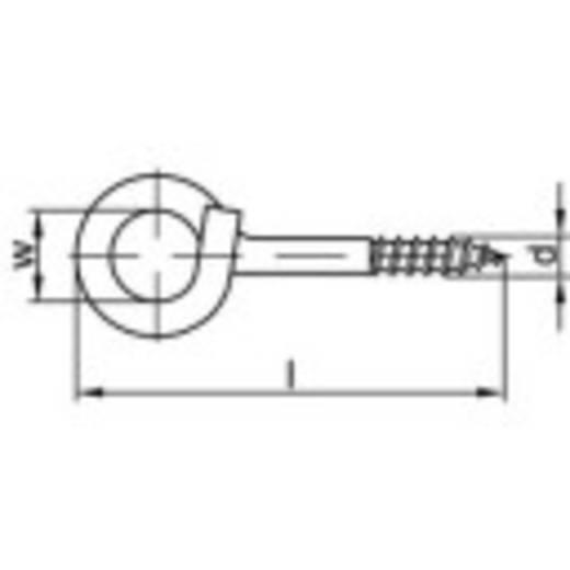 TOOLCRAFT Sterke plafondhaak 100 mm Galvanisch verzinkt staal 20 stuks