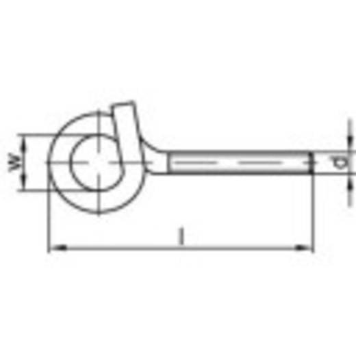 TOOLCRAFT Sterke plafondhaak 160 mm Galvanisch verzinkt staal M12 10 stuks