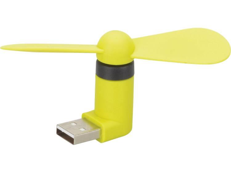 Miniventilator Herbert Richter 110 112 01 43 mm x 88 mm x 20 mm met USB aansluiting