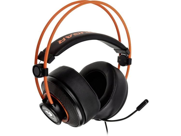 Gaming headset 3.5 mm jackplug Cougar Immersa 300H Open Ear Zwart, Oranje
