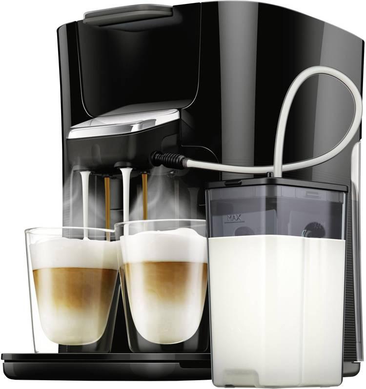 Image of SENSEO HD6570/60 Latte Duo Plus HD6570/60 Koffiepadmachine Zwart met melkreservoir