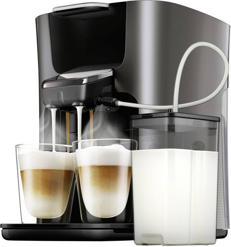 Image of SENSEO HD6574/50 Latte Duo Plus HD6574/50 Koffiepadmachine Antraciet met melkreservoir