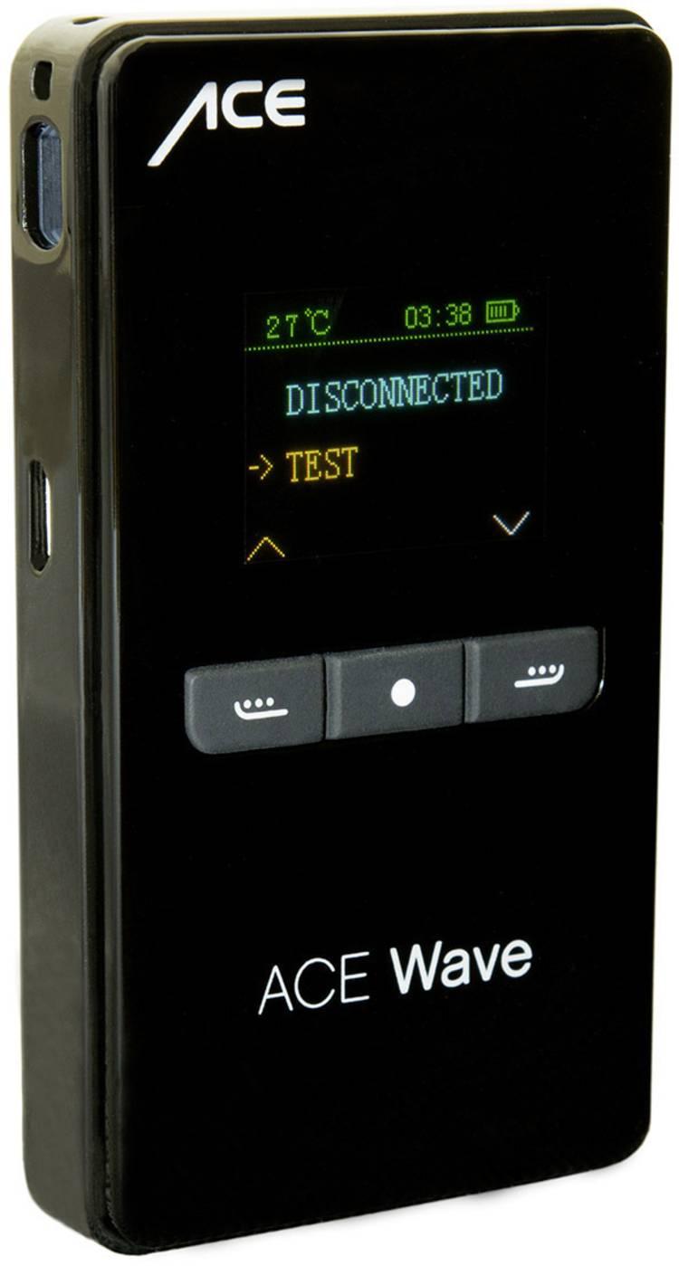 Image of ACE Wave Alcoholtester Zwart 0.00 tot 4.50 mg/ml Weergave via smartphone, Incl. display, Klok, Countdown-functie