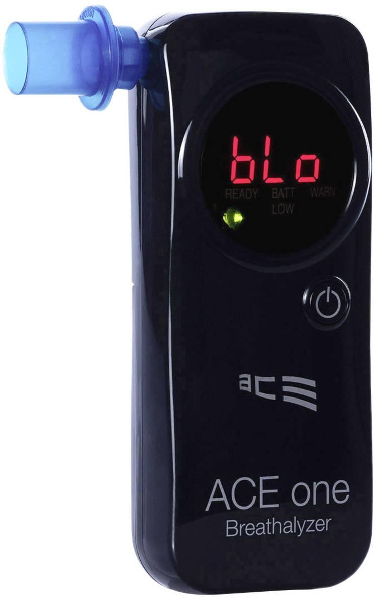 ACE one Alcoholtester Zwart 0 tot 4 ‰ Incl. display. Countdown-functie. Weergave van verschillende eenheden