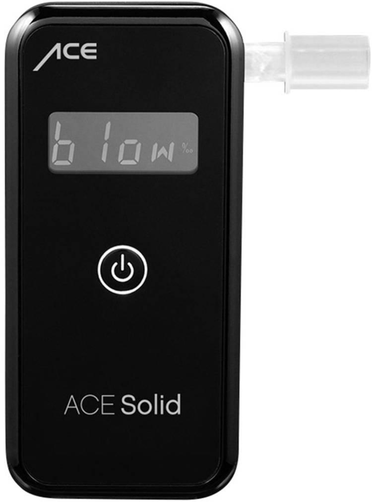 ACE Solid Alcoholtester Zwart 0 tot 4 ‰ Incl. display. Weergave van verschillende eenheden