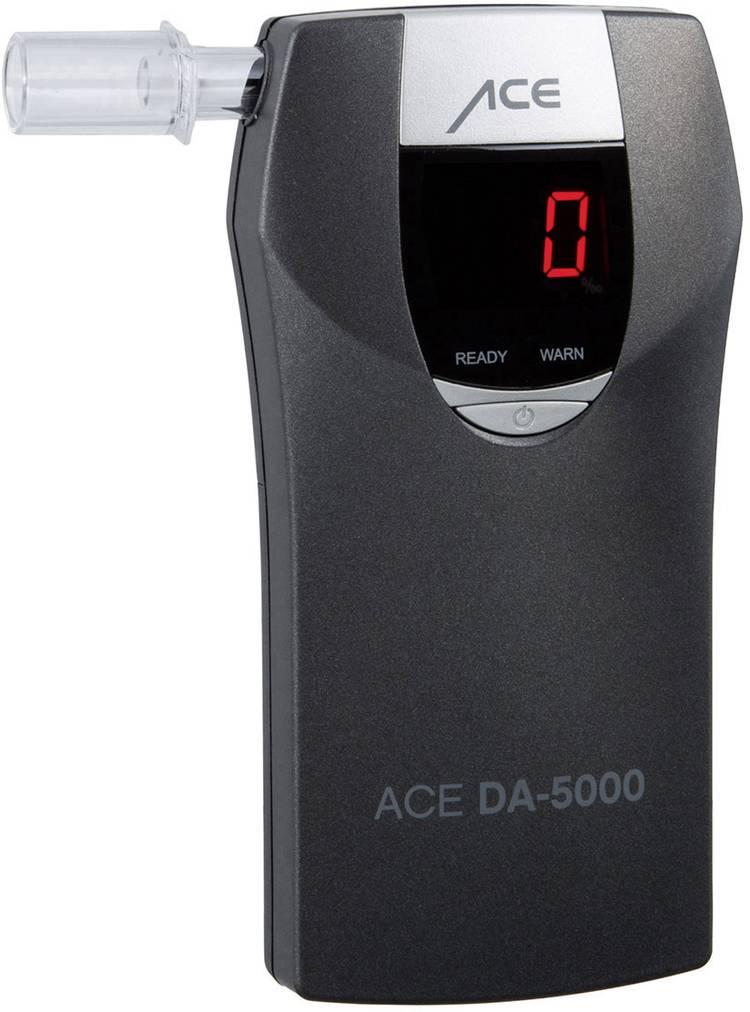 ACE DA-5000 Alcoholtester Grijs 0 tot 4 ‰ Countdown-functie. Alarm. Weergave van verschillende eenheden. Incl. display