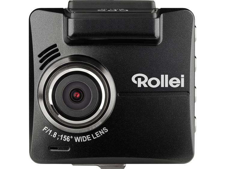 Rollei DVR 318 Dashcam met GPS Kijkhoek horizontaal (max.) 156 ° 12 V, 24 V Accu, Microfoon, Display