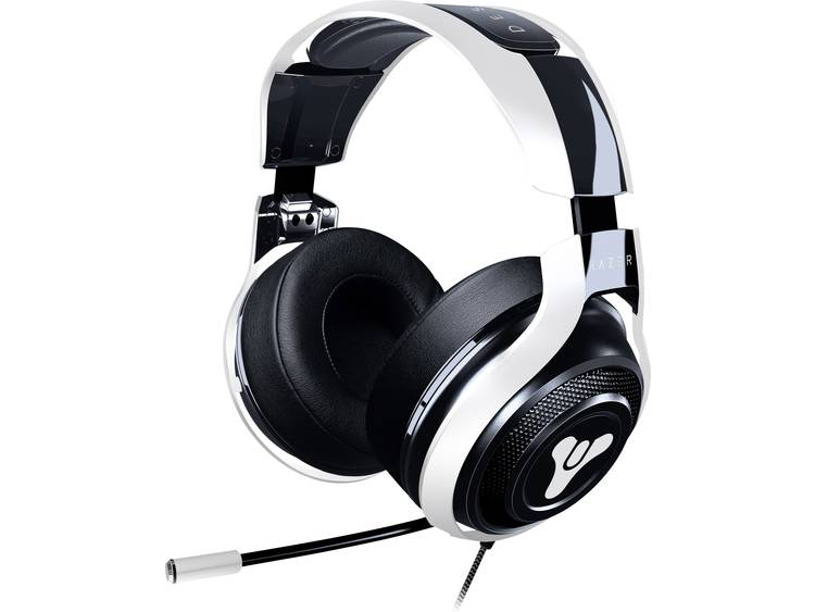 Gaming headset 3.5 mm jackplug Kabelgebonden Razer Man O War TE Destiny 2 Over Ear Wit