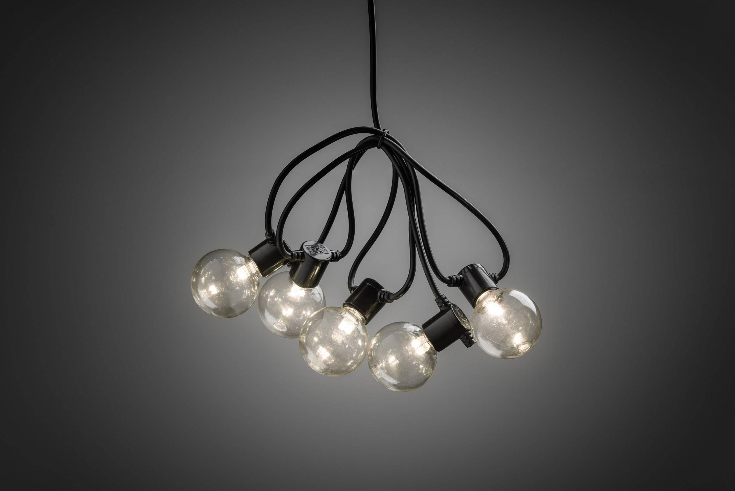 party lichtketting buiten werkt op batterijen 10 20 gloeilamp led helder warm wit verlichte lengte 225 m konstsmi