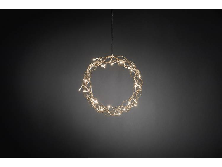 Decoratieve metalen krans Inara m. LED 30 cm