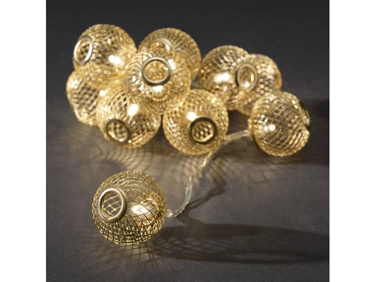 Konstsmide 3145-803 Motief lichtketting Bollen Binnen werkt op batterijen 10 LED Warm-wit Verlichte lengte: 0.9 m kopen