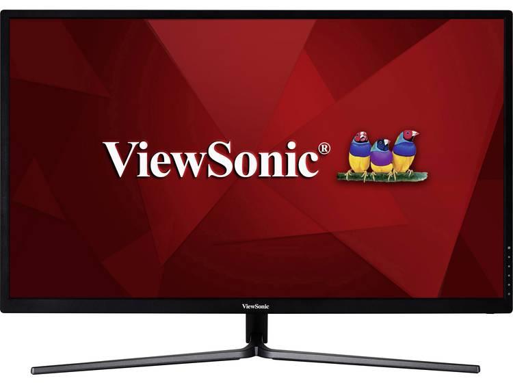 Viewsonic VX3211-2K-MHD LCD-monitor 80 cm (31.5 inch) Energielabel B (A+++ – D) 2560 x 1440 pix WQHD 3 ms HDMI, DisplayPort, VGA, Hoofdtelefoonaansluiting,