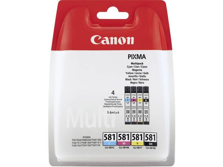 Canon Inkt CLI-581 Multipack CMYK Origineel Combipack Foto zwart, Cyaan, Magenta, Geel 2103C004