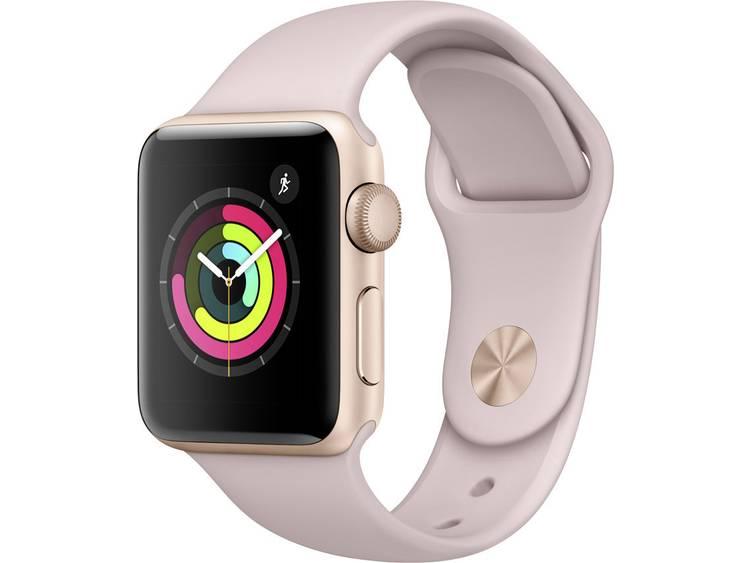 Apple Watch Series 3 38 mm Aluminium kast Goud Sportband Zandroze