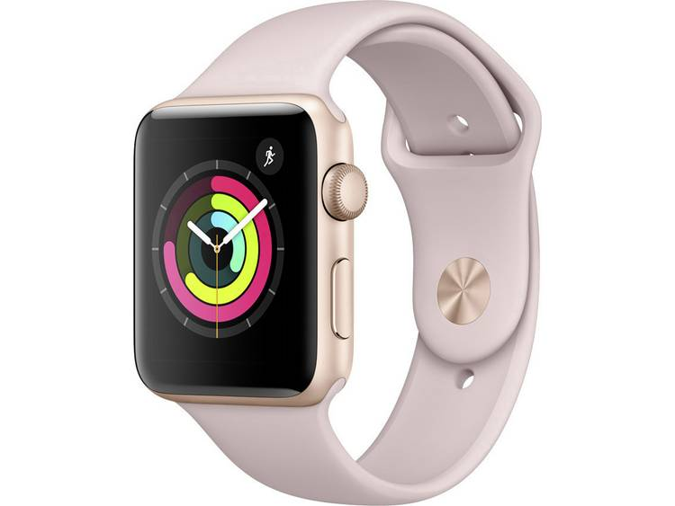 Apple Watch Series 3 42 mm Aluminium kast Goud Sportband Zandroze