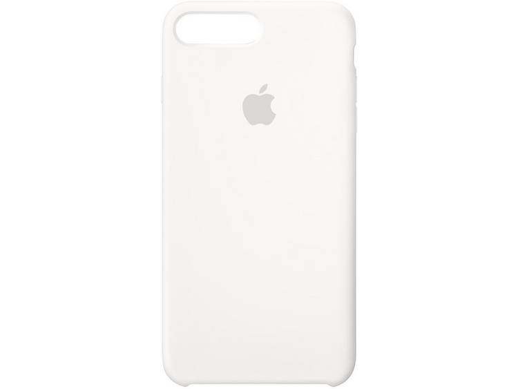 Apple Silicone Case iPhone Backcover Geschikt voor model (GSMs): Apple iPhone 8 Plus, Apple iPhone 7 Plus Wit