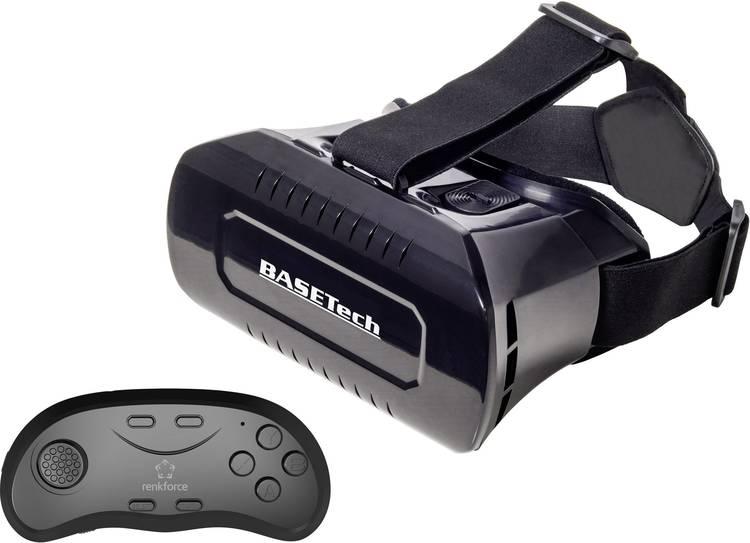 Basetech VR Pro Virtual Reality bril Zwart